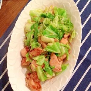 鶏胸肉とキャベツの甘辛炒め
