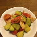 にんにく醤油で❤牛肉&トマト&胡瓜の生姜炒め♪