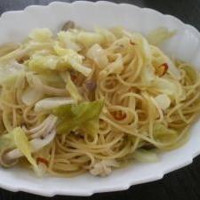 キャベツの醤油ペペロンチーノ