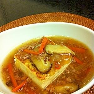 ひき肉あんかけ豆腐ステーキ