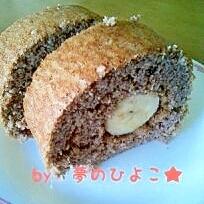 ヘルシー♪おからのココアバナナロールケーキ