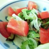 トマトとゴーヤのサラダ