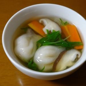 簡単に!水餃子と野菜のスープ