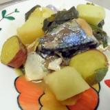 鯖の味噌生姜煮込み