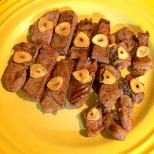 ガーリックチップとお肉☆アメリカンビーフ