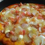 フライパンピザ☆キリ&フレッシュトマト