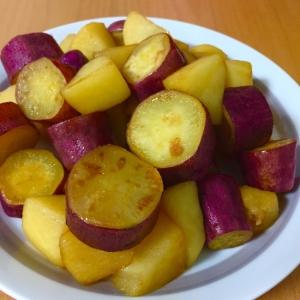 サツマイモとりんごの 簡単おやつ