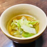 簡単ヘルシー☆白菜としめじのスープ