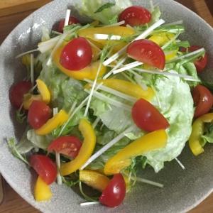 トマト・パプリカ・レタスの三色サラダ