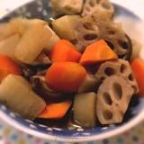 めんつゆで根菜の煮物