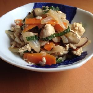 大葉入り*豆腐と野菜の炒め煮