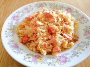 鮭と卵の炒飯