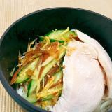 夏に食べたい!鶏の薬味素麺