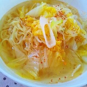 ✿タンメン❤白菜とねぎの簡単麺
