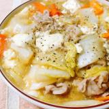 白菜と豚肉のふわとろ豆腐あんかけ