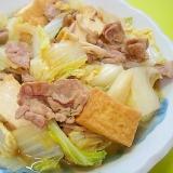 白菜と厚揚げ豚肉の煮物