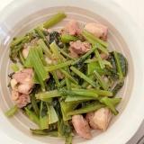 鶏モモ肉と小松菜のバジルソテー