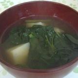 雪菜とじゃがいもの味噌汁