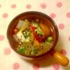 大根とパプリカのスープ
