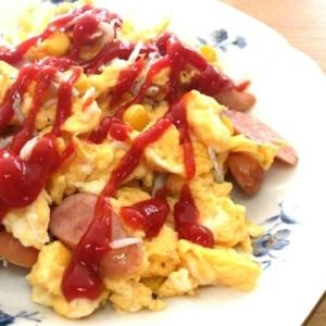 お弁当のおかずに☆しらす入り卵とソーセージ炒め