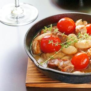 塩豚と白花豆のコトコト煮♪