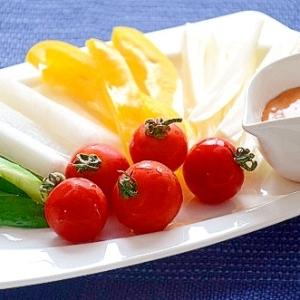 甘辛マヨソースで食べるスティックサラダ