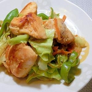 鶏むね肉とキャベツの味噌炒め