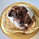 コーヒーゼリーココアがけパンケーキ