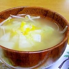 白菜ともやしの柔らか中華スープ
