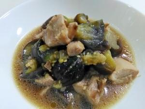 めんつゆで簡単☆鶏肉となすの煮浸し