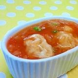 【離乳食】鶏団子&三度豆のトマトソース煮