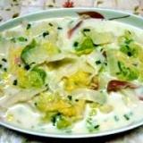 菜園白菜でおいしいクリーム煮です。