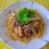 牛肉とエリンギのスパゲティ