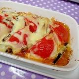 オイルサーディンのトマトのチーズ焼き