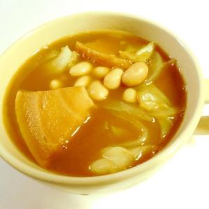 車麩大豆キャベ玉のスープカレー