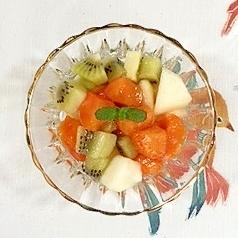 ラ・フランス、柿、キウイの三重奏