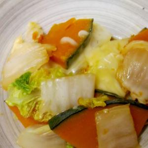 南瓜と白菜の重ね蒸し