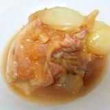 豚バラと玉ねぎの醤油煮(圧力鍋)
