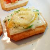 ダブルチーズと葱の焼きクラッカー
