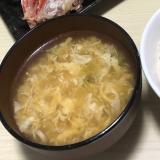 麺つゆとごま油だけで美味い!たまごスープ