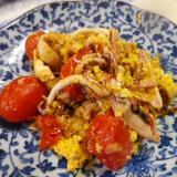 トマトイカの卵炒め