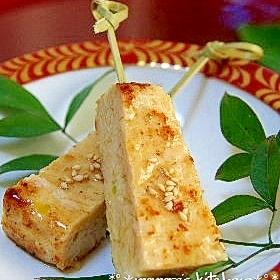 お弁当やおつまみに♪簡単♥鶏肉の松風焼き☆のし鶏