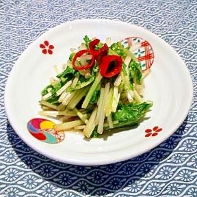 「ぶぶ漬け食べなはれ〜♪」水菜の漬け物。