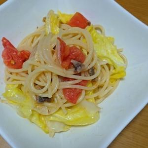 アンチョビと春野菜のトマトスパゲティ