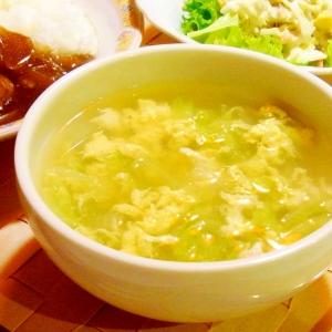 白菜の玉子とじスープ