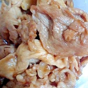 さしみ醤油で作る〜豚の生姜焼き〜