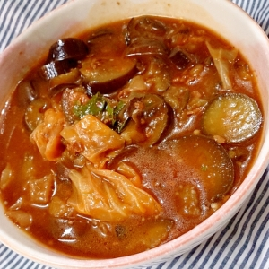 大阪王将麻婆茄子の素でピリ辛美味しい麻婆スープ