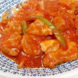 子供が喜ぶ(^^)簡単ヘルシー鶏むね肉のトマト煮♪