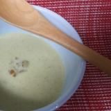 食感楽しむ根深ねぎのクリームスープ