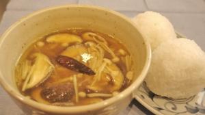 簡単★きのこだけ★こくうまカレースープ!